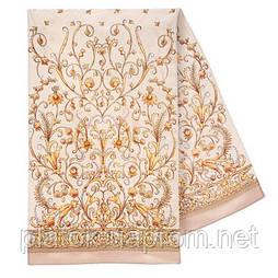 Пламя свечи 1326-1, павлопосадский шарф шелковый крепдешиновый с подрубкой