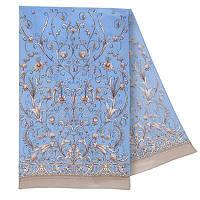 Пламя свечи 1326-2, павлопосадский шарф шелковый крепдешиновый с подрубкой