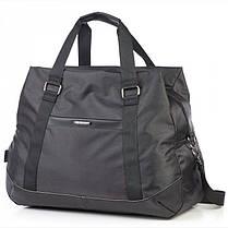 Большая сумка дорожная черная на 3 отдела 49 л. Dolly 796 с плечевым ремнем, фото 2