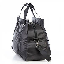 Большая сумка дорожная черная на 3 отдела 49 л. Dolly 796 с плечевым ремнем, фото 3