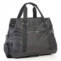 Большая сумка дорожная черная на 3 отдела 49 л. Dolly 796 с плечевым ремнем