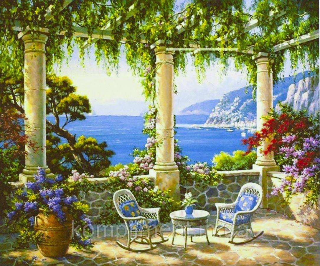 """Картина по номерам  """"Средиземноморская тераса"""" 40*50 см, краски - акрил"""