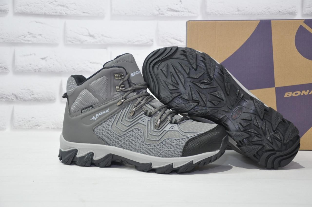 Мужские зимние высокие водонипроницаемые ботинки на  мембране BONA