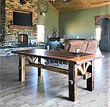Садовая мебель 1900х900 из массива дерева от производителя для дачи, кафе, комплект Farmhouse Hand Made - 02, фото 2