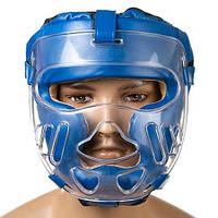 Шлем для единоборств с пластиковой маской Ever (р-р  S-XL, синий)