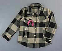 Рубашка тёплая в клетку для девочек