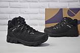 Чоловічі чорні високі водонипроницаемые черевики на мембрані BONA, фото 3