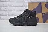 Чоловічі чорні високі водонипроницаемые черевики на мембрані BONA, фото 5
