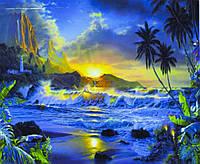 """Картина за номерами """"Тропічний пейзаж"""" 40*50 см, фарби - акрил"""