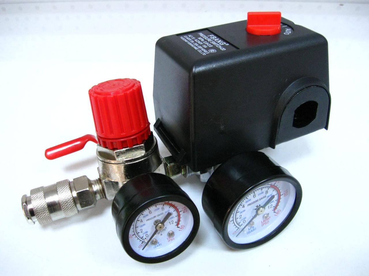 Прессостат в сборе компрессора Limex 220В 3 выхода