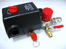 Прессостат в сборе компрессора Limex 220В 3 выхода, фото 2