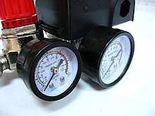 Прессостат в сборе компрессора Limex 220В 3 выхода, фото 3