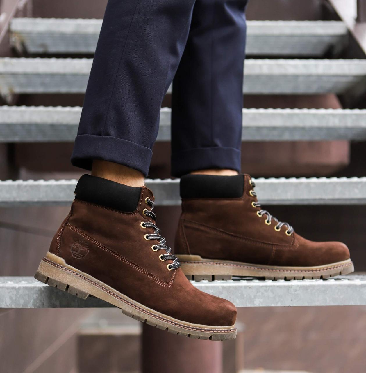 Мужские ботинки Тимберленд (коричневые)