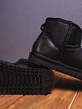 Мужские Угги Лайт кожаные (черные), фото 2