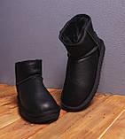 Мужские Угги Лайт кожаные (черные), фото 3