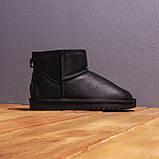 Мужские Угги Лайт кожаные (черные), фото 4