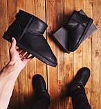Мужские Угги Лайт кожаные (черные), фото 5