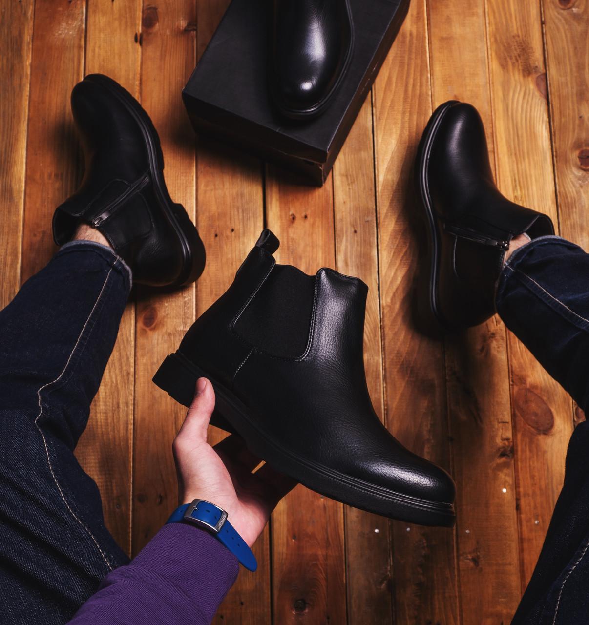 Мужские ботинки Валерий (черные)