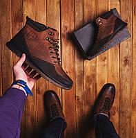 Мужские ботинки Калах высокие спорт (коричневые), фото 1