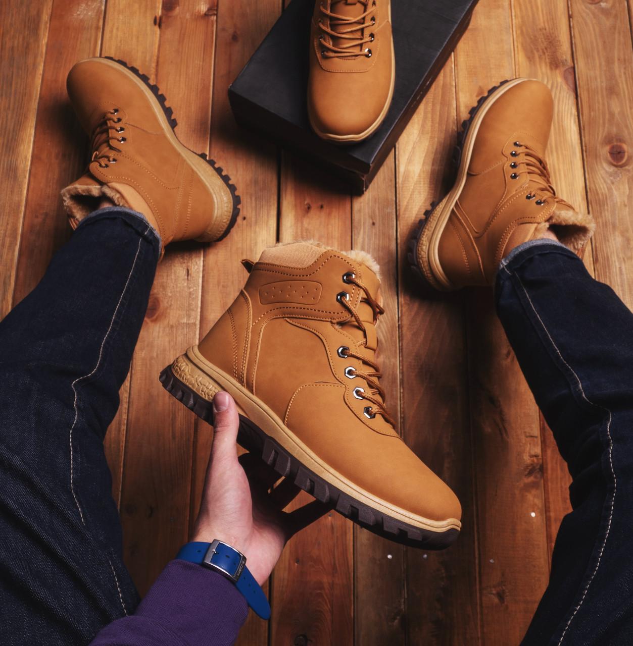 Мужские ботинки Батерфляй фешн (рыжие)