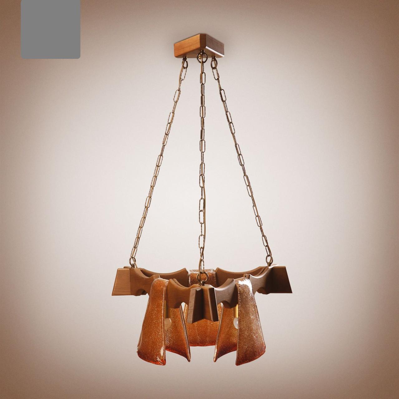 Люстра деревянная, 3-х ламповая 1433