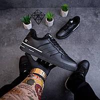 Мужские зимние кроссовки Стилли форс флаг (черно - белые), фото 1