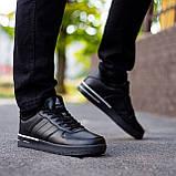Мужские зимние кроссовки Стилли форс флаг (черно - белые), фото 4