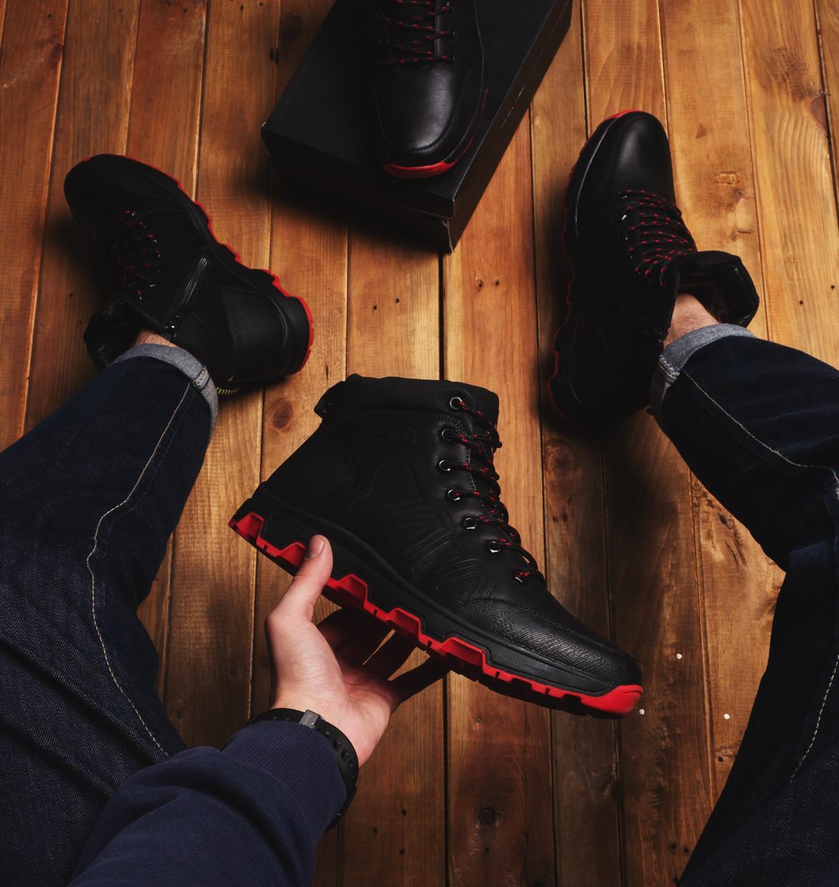 Мужские ботинки Дест (черные с красной подошвой) - 40 (26.5 см)