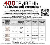 Сертифікат на 400 грн на покупку розумного керамічного біо-конвектора UKROP з цифровим програматором, фото 2