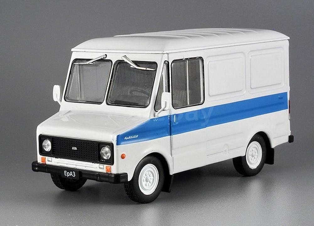 Автолегенды №114 ЕрАЗ-3730 белый с синим | Коллекционная модель 1:43 | DeAgostini