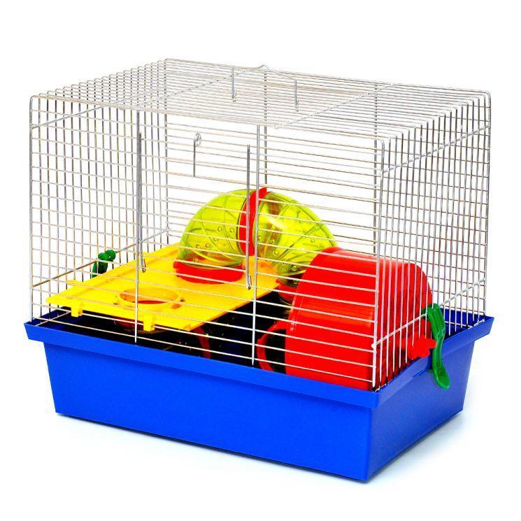 Клетка МИККИ ЛЮКС для малых грызунов, 33,5х23х28,5 см, цинк