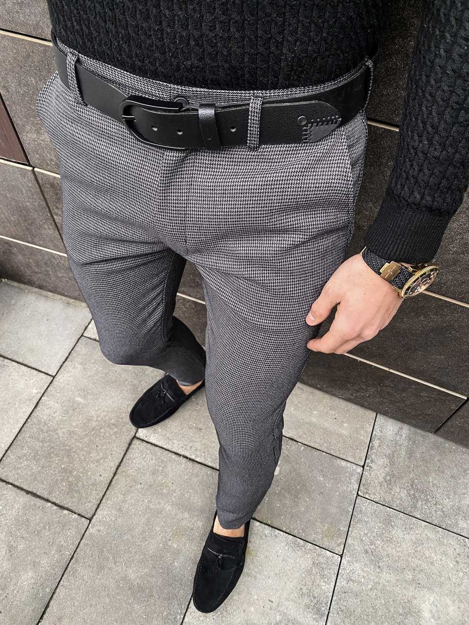 Чоловічі штани 100% (антрацит)