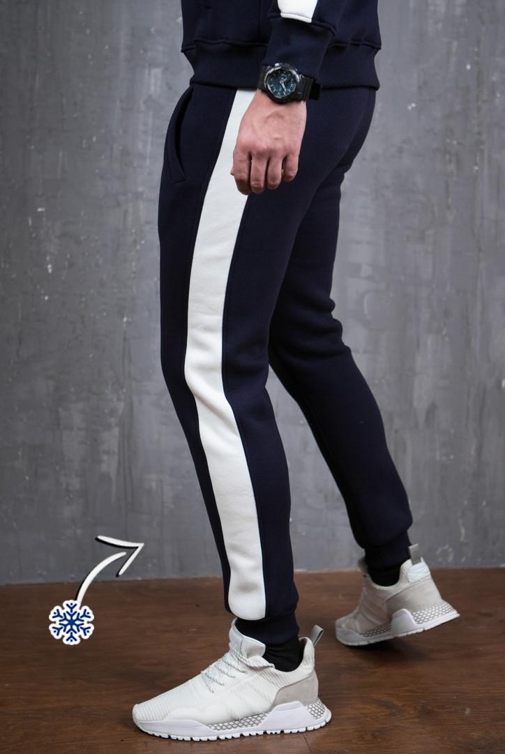 Мужские штаны Lampas zimniy (синие с белым)