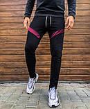 Мужские штаны Diego (черно-бордовые), фото 2