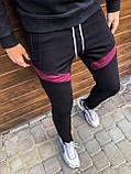 Мужские штаны Diego (черно-бордовые), фото 3