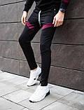 Мужские штаны Diego (черно-бордовые), фото 4