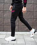 Мужские штаны Diego (черно-бордовые), фото 6