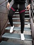 Мужские штаны Diego (черно-бордовые), фото 7