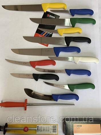 Нож разделочный для мяса профессиональный F.Dick 2348 - 180 мм, жесткая сталь, фото 2