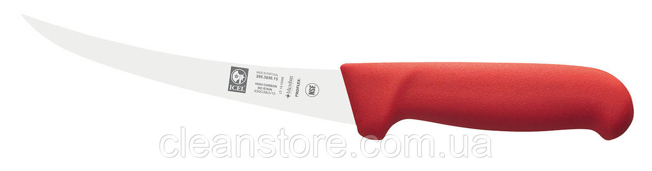 Обвалювальний напівгнучкий ніж, 13 см, вигнуте лезо, ICEL, Португалія