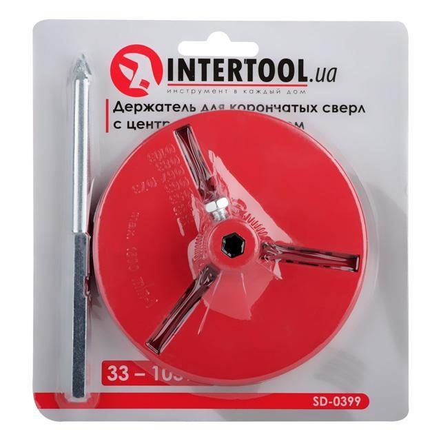 Держатель для корончатых сверл 103 мм, с центровочным сверлом INTERTOOL SD-0399