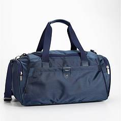 Большая спортивная сумка синяя дорожная на 43 литра Dolly 788 размер 53* 29 см