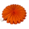 Веерный круг тишью 25см оранжевый 0011