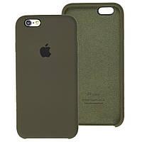 Чехол Silicone Case для IPhone 5/5S Dark Olive (темно-оливковый)