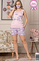 Пижама майка с шортами