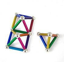 Магнитный конструктор Neo 36 палочек и 26 шариков Разноцветный, фото 2
