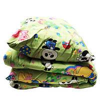 Детский набор Lotus flower одеяло и подушка панды, зелёный