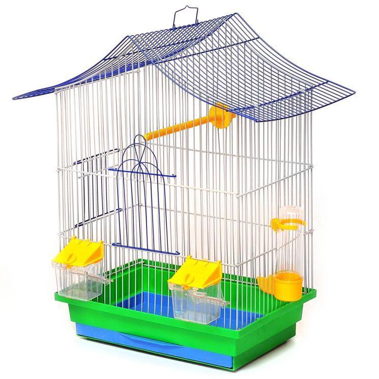 Клетка МИНИ-3 для птиц, 33х23х47 см, никель