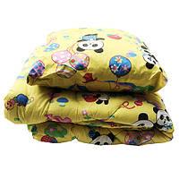 Детский Lotus flower набор одеяло и подушка (Панды) желтый