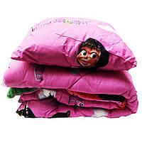 Детский набор Lotus flower одеяло и подушка Маша и медведь, розовый